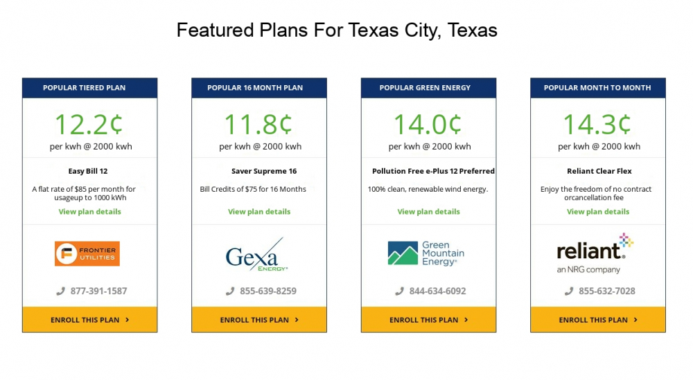 Electric Companies In Texas >> Texas City Electricity Providers And Rates Vault Energy